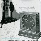 Vintage 1945 Angelus Carillon Clock Advert Publicite Suisse Swiss Ad Stolz Freres SA Switzerland