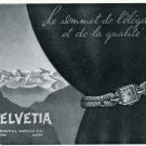 Vintage 1947 Helvetia General Watch Company Switzerland Swiss Advert Publicite Suisse Montres