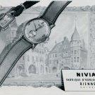 Vintage 1947 Nivia Watch Company Montres Nivia Switzerland Swiss Advert Suisse Publicite Schweiz
