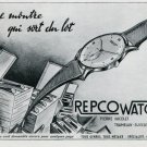1947 Repco Watch Company Pierre Nicolet SA Tramelan Switzerland Swiss Advert Publicite Suisse