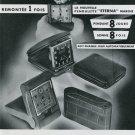 1939 Eterna Clock Company Switzerland Original 1930s Swiss Advert Publicite Suisse Schweiz