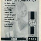 1959 Ebel Watch Company La Chaux-de-Fonds Switzerland Swiss Advert Publicite Suisse Montres