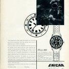 Vintage 1959 Enicar Sherpa Dive Watch Advert Publicite Suisse Montres Swiss Print Ad