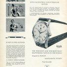 1959 Buren Super Slender Automatic Watch Advert Publicite Suisse Swiss Print Ad