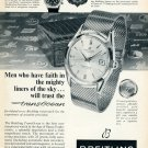 1959 Breitling TransOcean Watch Advert Faith in the Mighty Liners of the Sky Swiss Ad Publicite