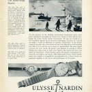 1959 Ulysse Nardin CH Watch Company Salute to the Geophysical Year Swiss Advert Publicite Suisse