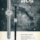 1959 Recta Manufacture d'Horlogerie SA Swiss Advert Publicite Suisse Montres