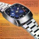 Zodiac Astrographic SST Watch Advert Publicite Suisse Montres 1974 Swiss Magazine Ad