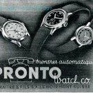 Vintage 1945 Pronto Watch Company L Maitre & Fils SA Le Noirmont Suisse Publicite Swiss Advert