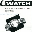 Vintage 1945 Elmas Watch Company Switzerland 1940s Swiss Ad Advert Publicite Suisse Schweiz