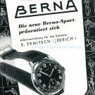 Vintage 1945 Berna Sport Watch Advert Publicite Suisse Montres Swiss Magazine Ad Schweiz