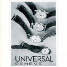 1942 Universal Geneve Watch Company Vintage Swiss Advert Publicite Suisse Montres 1940s