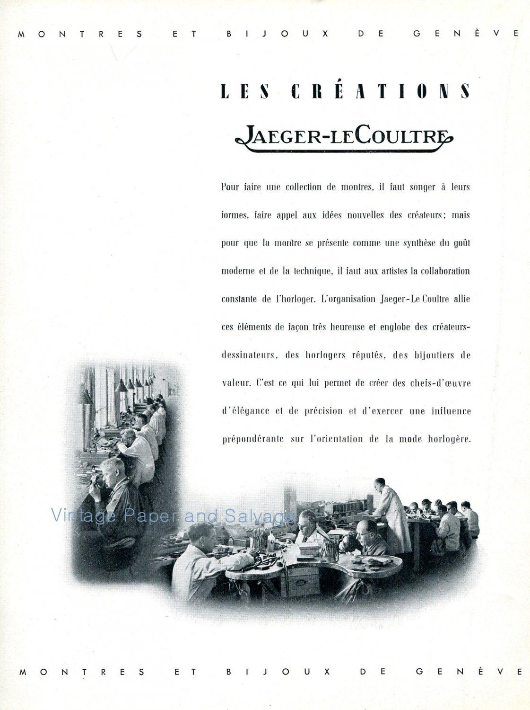 1942 Jaeger-LeCoultre Switzerland Vintage Swiss Advert Publicite Suisse Montres