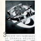 1942 Spiraux Reunies Switzerland Vintage Swiss Advert Publicite Suisse Horlogerie Horology 1940s