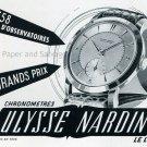 Vintage 1952 Ulysse Nardin Watch Company Switzerland 1950s Swiss Advert Publicite Suisse Montres