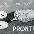 Vintage 1945 Pronto CH Watch Co Switzerland Original 1940s Swiss Advert Publicite Suisse