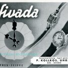 Vintage 1945 Nivada CH Watch Co Grenchen Switzerland Swiss Advert Publicite Suisse Montres Schweiz