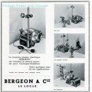 1945 Bergeon & Cie Switzerland Publicite Suisse Swiss Ad Advert Schweiz Horlogerie CH Horology