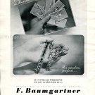 Vintage 1942 F Baumgartner Manufacture de Boites Bijoux Montres Swiss Ad Advert Suisse Horlogerie CH