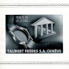 Vintage 1942 Taubert Frères SA Genève CH Swiss Advert Publicite Suisse Horlogerie