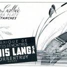 Vintage 1942 Louis Lang SA Porrentruy Boites de Montres Swiss Advert Publicite Suisse Horlogerie CH