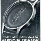 Vintage 1942 Chatelain Sandoz & Co CH Fabrique Boites de Montres Swiss Advert Publicite Suisse