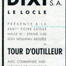 Vintage 1942 Dixi CH D'Outilleur Horlogerie Swiss Advert Publicite Suisse Schweiz Switzerland