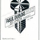 Vintage 1942 Paul Dubois SA CH St-Imier Switzerland Swiss Advert Suisse Publicite