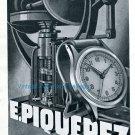 1942 E Piquerez CH Fabrique de Boites de Montres Swiss Advert Publicite Suisse Horlogerie