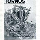 Vintage 1942 Usines Tornos SA Moutier Switzerland Swiss Advert Publicite Suisse Horlogerie CH