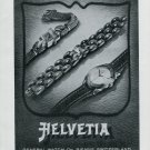 Vintage 1948 Helvetia General Watch Company Switzerland Swiss Advert Publicite Suisse
