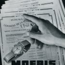Vintage 1948 Moeris Watch Co Grands Prix Ad Swiss Advert Publicite Suisse CH