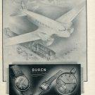 Vintage 1946 Buren Watch Company S.A. Switzerland Swiss Advert Publicite Suisse Schweiz
