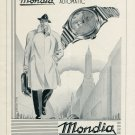 Vintage 1946 Mondia Watch Company Switzerland Swiss Advert Publicite Paul Vermot & Co CH