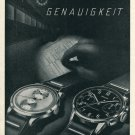 Vintage 1946 Orfina Watch Co Grenchen Switzerland Swiss Advert Publicite Suisse CH