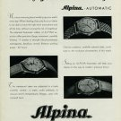 Vintage 1949 Alpina Watch Company Alpina Union Horlogere SA Swiss Advert Publicite Suisse CH