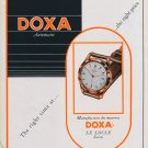 Vintage 1953 Doxa Watch Company Le Locle Switzerland Swiss Advert Publicite Suisse Montres CH