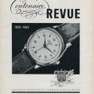 Vintage 1953 Revue Watch Co Thommen SA 100 Year Anniversary Swiss Advert Publicite Suisse Montres CH