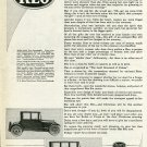 Vintage 1920 REO Motor Car Company Lansing Michigan MI Christmas Advert Publicite