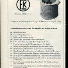 Vintage 1947 F Knobel Ennenda Swiss Print Ad Suisse Publicite Schweiz Switzerland Suiza