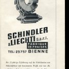 1947 Schindler & Liechti SARL Fabrique de Fraises Swiss Ad Publicite Schweiz Switzerland CH 1940s