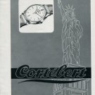 Vintage 1946 Cortebert Watch Co. Lady Liberty Statue of Liberty Swiss Advert Publicite Suisse CH