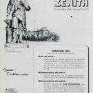 1946 Zenith Watch Co Neuchatel Observatory Swiss Advert Publicite Suisse Montres CH Switzerland