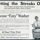Vintage 1905 Dodge & Zuill Syracuse NY Syracuse Easy Washer Early 1900s Print Ad Publicite Advert