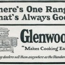 Vintage 1905 Glenwood Range Early 1900s Print Ad Publicite Advert Cooking Stove