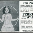 Vintage 1905 Ferris Waist Ferris Bros Company NY Early 1900's Print Ad Publicite Advert