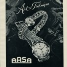1953 Arsa Watch Co d'Horlogerie A Reymond Switzerland Swiss Advert Publicite Suisse Montres CH