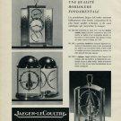 Vintage 1953 Jaeger-LeCoultre Clock Co Switzerland Swiss Advert Publicite Suisse CH