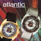 1971 Atlantic Watch Company Switzerland Swiss Advert Publicite Suisse Montres CH