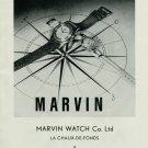 Vintage 1948 Marvin Watch Co Switzerland Swiss Advert Publicite Suisse Montres Marvin CH